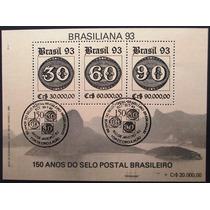 A9288 Brasil Bloco Nº 95 Novo Cb 1º Dia Brasiliana 93