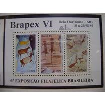 Rb2801 - Bloco Selo Novo 1985 Rhm B-69 Brapex Pinturas Rupes