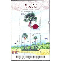 Selos Brasil 2013 Bloco 178 Flora Brasileira Árvore Buriti