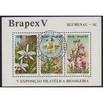 Brasil Bloco 051 Brapex Flores Com Cpd U
