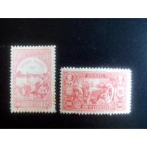 Selos Brasil/ Rhm Nº7 E 8 - 100º Abertura Dos Portos/1908