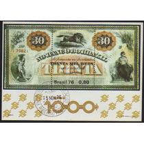 Brasil Bloco 040 Cédula Banco Do Brasil Cpd U