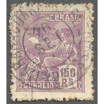 Selo Do Brasil-150 Réis Com Carimbo Araraquara A R.preto