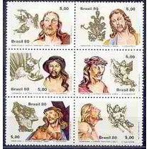 Série Arte Brasileira/aleijadinho - 1980 - Mint- C-1177-1182