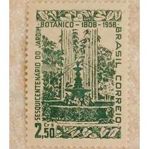 Antigo Selo Filatelia Jardim Botânico Rio De Janeiro De 1958