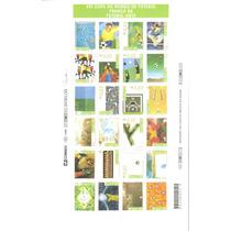 Folha Completa 24 Selos Diferentes - Futebol Copa Do Mundo !