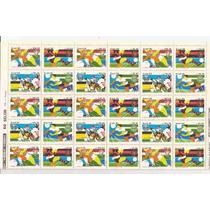 Futebol-folha Interia 1988-60 Selos 4 Times Campeoes