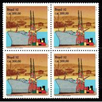 Brasil 1992 * Quadra * 100anos Porto .de Santos