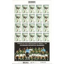 Palmeiras-folha Inteira Nova De 2001,com A Foto Do Time