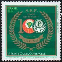 Lindo Selo Centenário Do Palmeiras - Futebol - Vejam A Foto