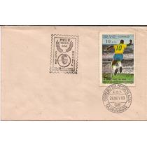 Pelé- Envelope Com O Selo Carimbo 1º Dia E Cbc Raro Do Pelé