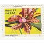 Selo 1987 - Orquídea Cattleya Guttata Lindley - Circuld - Q7