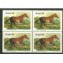 1985 - Cavalos Raças Brasileiras - Quadra - Rhm C1446