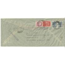 Envelope Registrado 1941 Brasil Para Usa - 4 Selos