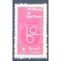 L0138- Brasil Selo C-537y Bienal S.p Marmorizado