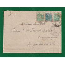Brasil-envelope Circulado Porte Selo Em Réis E Cruzeiro 1950