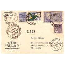 Zeppelin-postal 1.voo L.z.129-brasil-alemanha-05-04-1936