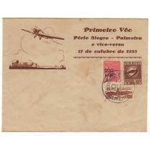17379 Envelope Circulado Via Varig Porto Alegre Palmeira 33