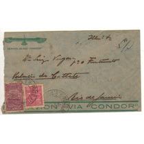 17278 Carta Circulada Via Condor Panair 1932 Catete Rj
