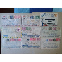Brasil- 9 Envelopes Circulados De Diversas Companhias Aereas