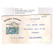 Envelope, 700 Réis, 1o Porte, Circulado De Minas Para O Rio.