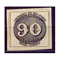 Selo Brasil,centenánario Do Selo Brasileiro 1943,novo.