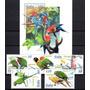 Serie Completa Aves Passaros 5 Valores + Bloco Novo