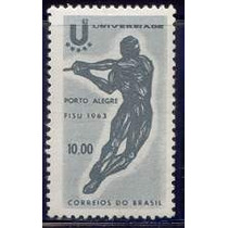 Selo Brasil,jogos Universitários Porto Alegre 1963 ,novo.