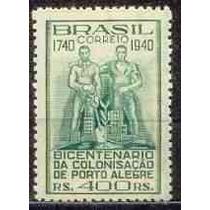 Selo Brasil,bicent.colonização Porto Alegre 40,mint.v Descr.
