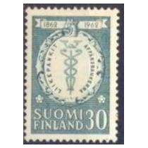 Selo Finlândia,cent. 1° Banco Comercial 1962,novo.