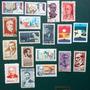 V-8300 - 18 Selos Personalidades Escritores Presidentes