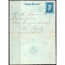 Brasil. Inteiro Postal. Carta Bilhete De 100, Com Arabescos