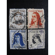 4 Selos Brasileiros - Mulheres Ilustres Do Brasil - 1967