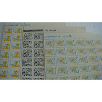 3 Folhas 330 Selos Rhm Vale R$ 250,00 Vejam Fotos Divs Bcj