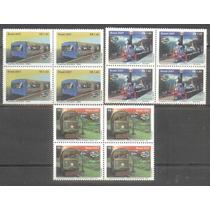 =cp:2697= Serie Em Quadra=12 Selos Locomotivas Brasil/2007