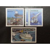 O Porto:pontes E Navios- Selos Da Suécia/1998 E 99 (ref250)