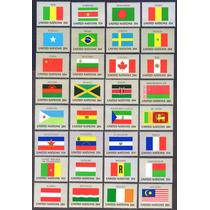 (3787) Coleção De Selos Bandeiras De 64 Países - Veja Fotos