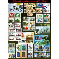 Cuba - Ano Completo De 2011 - 68 Selos E 8 Blocos Novos Mint