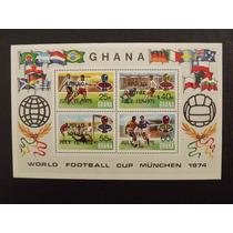 Copa Do Mundo Da Alemanha 1974 - 1 Bloco De Ghana