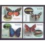 Panama 2001 - Borboletas E As Suas Larvas - 4 Selos