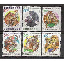 Bulgária, 1992, Fauna, Felinos. Yv. 3486/91