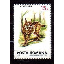 Romenia 1993 * Felinos Selvagens * Lince * Lynx Lynx