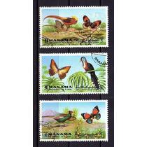Manama 1972 * Ajman * Emirados * Broboletas * Aves