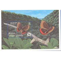 Fauna Borboletas Das Ilhas Virgens Britânicas - Bloco