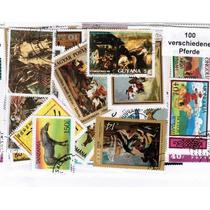 Cavalos 100 Selos Diferentes Universais - P101