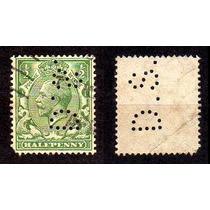 Inglaterra 1912 * Rei George V * ¹/²p .verde Perfins (3)