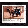 Hungria 1977 Carroagem Cabine .de .um Cavalo