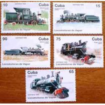 *lfm Trens - Cuba 1996 (locomotivas) Mnh
