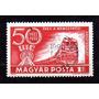 Hungria 1972 * 50th Ferrovias* Trem * Locomotiva M-62 Diesel