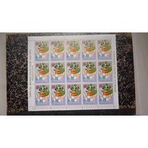 Temática - Futebol- Folha Com 15 Selos - L - 1062